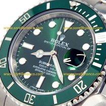 """Rolex SUBMARINER """"Hulk"""" NUOVO con PLASTICHE ghiera verde 116610LV"""