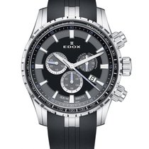 Edox Grand Ocean Steel 45mm Black No numerals