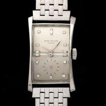 Patek Philippe Hour Glass Platinum 41mm Silver