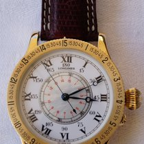 Longines Yellow gold Manual winding 47,5mm pre-owned Lindbergh Hour Angle