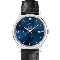 Omega Steel Automatic Blue Roman numerals 39.5mm new De Ville Prestige