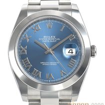 Rolex Datejust Acier 41mm Bleu Romains