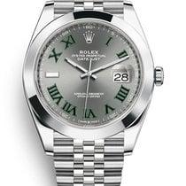Rolex Datejust II Zeljezo 41mm Siv Bez brojeva