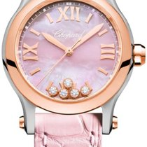 Chopard Happy Sport Goud/Staal 30mm Parelmoer Romeins