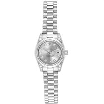 Rolex Lady-Datejust Or blanc 26mm Argent