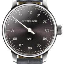 Meistersinger N° 01 Steel 43mm Black Arabic numerals