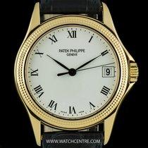 Patek Philippe 18k Yellow Gold White Roman Dial Calatrava...