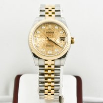 Rolex Silver Automatic Champagne Arabic numerals 31mm pre-owned Lady-Datejust