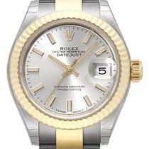 Rolex Lady-Datejust Acero y oro 28mm Plata Sin cifras