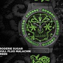 Hublot BRODERIE SUGAR SKULL FLUO MALACHIK GREEN 41mm