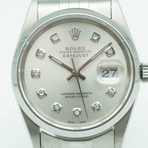 Rolex Datejust 36 Stainless Steel Silver Oyster Diamond Dial 2000