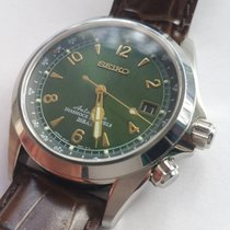 Seiko Green Alpinist, Box, Papers + matching new seiko steel...