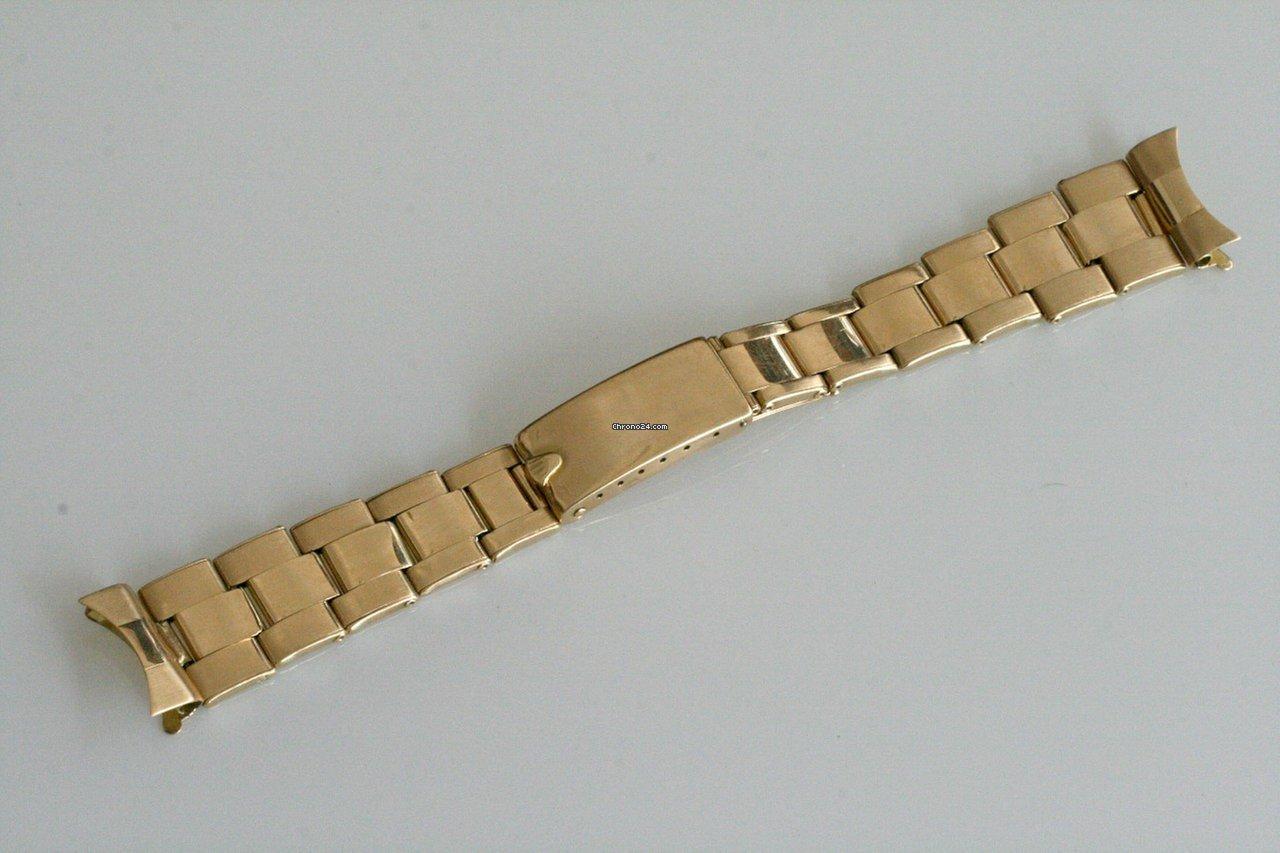 Riveted 18kGold Oyster Vintage Bracelet57 Rolex Endlinks Rwc thCsBoQxdr