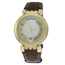 Harry Winston Premier pre-owned 37mm White Date Leather