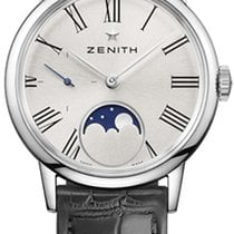 Zenith Elite Ultra Thin Steel 33mm Silver Roman numerals