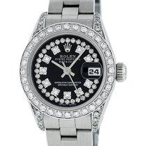 Rolex Ladies Datejust SS & 18K White Gold Diamond Watch