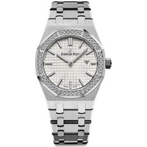 Audemars Piguet Royal Oak Lady Quartz Steel Silver Dial...