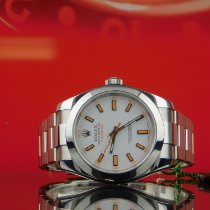 Rolex 40mm Automatic 2010 pre-owned Milgauss White