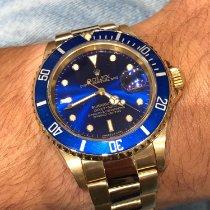 Rolex Submariner Date Or jaune 40mm Bleu Sans chiffres France, Paris
