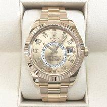 Rolex Sky-Dweller Žluté zlato 42mm Zlatá Arabské