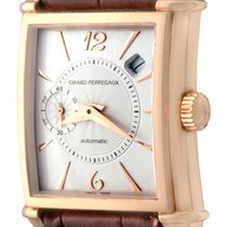 Girard Perregaux Rose gold Automatic Silver Arabic numerals 28mm pre-owned Vintage 1945