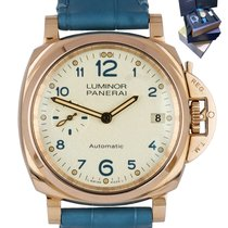 Panerai Luminor Due Ouro rosa 38mm Branco Árabes