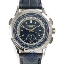Patek Philippe World Time Chronograph Aur alb
