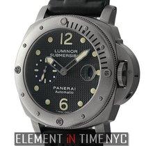 Panerai Titanium Automatic Black 44mm pre-owned Luminor Submersible