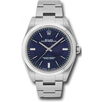 Rolex Mens 39mm Stainless Steel Oyster Perpetual Model 114300...