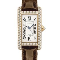 Cartier WB704751 Tank Americaine Rose Gold with Diamond Case -...