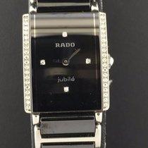 Rado Integral 22.5mm Ladies Black Diamond Dial Black Ceramic...