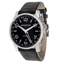 Montblanc Timewalker GMT 36065 Men's Watch in Stainless Steel