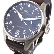 IWC 500402 Big Pilot in White Gold - on Brown Leather Strap...