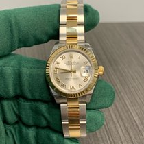 Rolex Lady-Datejust Золото/Cталь 28mm Cеребро Римские