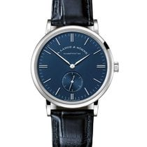 A. Lange & Söhne 219.028 Saxonia 35mm in White Gold - on Black...