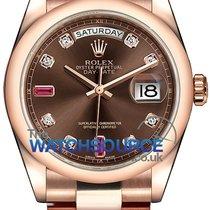 Rolex Day-Date 36 Or rose 36mm Brun