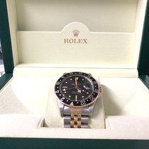 Rolex GMT-Master Gold/Steel 40mm Black No numerals