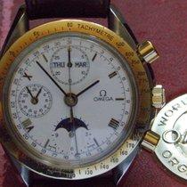 Omega Speedmaster Professional Moonwatch Moonphase gebraucht 38mm Leder