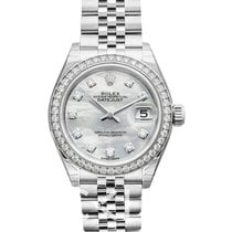Rolex Lady Datejust White MOP 18k White Gold/Steel Dia 28mm -...