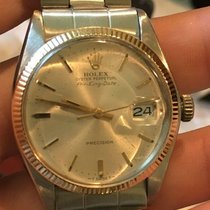 Rolex Air King Date pre-owned 34mm Silver