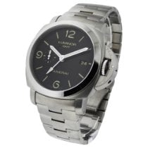 Panerai Luminor 1950 3 Days GMT Automatic pre-owned 44mm Black Date GMT Steel