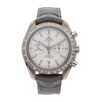 Omega Speedmaster Professional Moonwatch pre-owned 44.2mm Grey Chronograph Date Tachymeter Crocodile skin