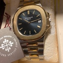 Patek Philippe Nautilus Gold/Steel 42mm Black No numerals
