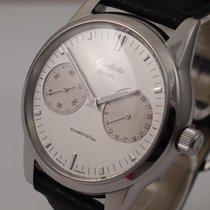 Glashütte Original Senator Hand Date Acier 40mm Blanc