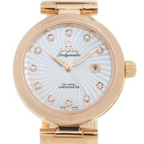 Omega De Ville Ladymatic Or rose 34mm Blanc