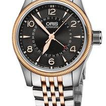 Oris Big Crown Pointer Date,Black Dial, Steel\Gold Bracelet