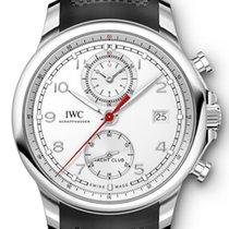 IWC Portugieser Yacht Club Chronograph Stahl 43,5mm Silber Arabisch