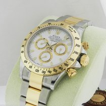 Rolex Daytona 116523 White Dial Steel and Gold Box & Papers