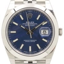 Rolex Datejust 41 126300 Blue Index Domed Stainless Steel...