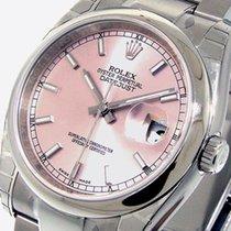 Rolex Datejust 116200 Steel 36 Mm Oyster Bracelet Pink Stick...